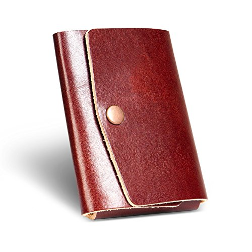 LAN Genuine Leather Wallet Thin Minimalist Front Pocket Wallets for Men Nano Credit Card Case Money Holder Men Wallet Leather Slim Money Clip Small (b…