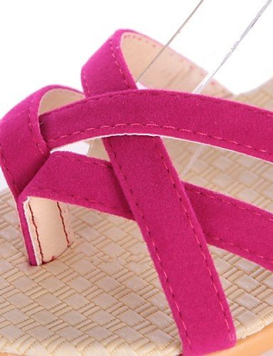 ShangYi Womens Shoes Fleece Flat Heel Comfort / Open Toe Sandals Dress / Casual Black / Blue / Red / Beige Beige