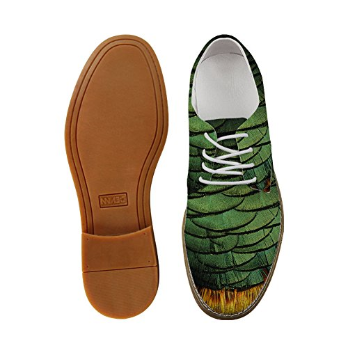 Hugs Idea Serpentine Pattern Mens Fashion Oxford Dress Shoes Feather Pattern6