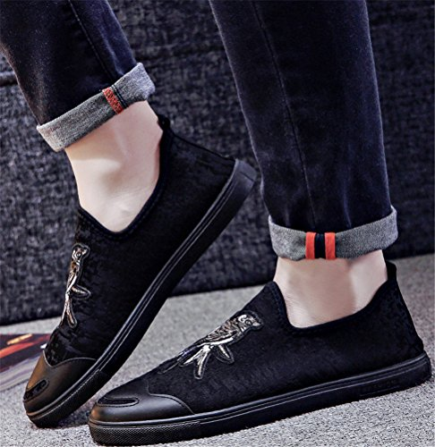Fashion Shoes On For Lightweight Soft C Loafers Canvas Shoes SATUKI Flat Sneakers Pull Athletic Men Casual O54RwqCqx