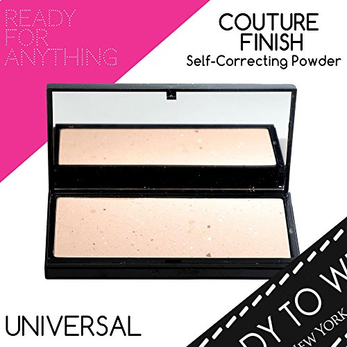 Ready To Wear Long Lasting COUTURE FINISH SELF CORRECTING POWDER Color Corrector Universal Shade Face Powder Compact Makeup Mirror Makeup Compact LightWeight Made In Italy (LARGE, UNVIERSAL)
