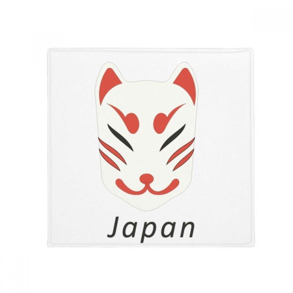 DIYthinker Traditional Japanese Local Fox Mask Anti-Slip Floor Pet Mat Square Home Kitchen Door 80Cm Gift