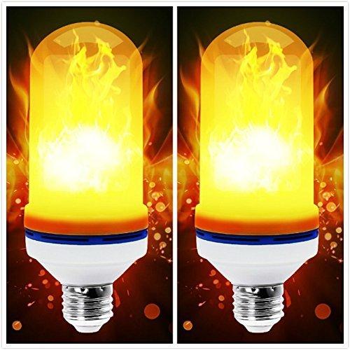 LEDフレーム効果電球 – 4モードアップサイドダウン効果 – MAXZONE E26ベースLED電球 – フレーム電球 ハロウィン/ホテル/バーパーティー装飾 – 2パック B07G1YXWKZ