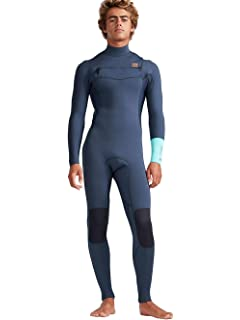6ef5dac62be4 Billabong Mens 4/3mm Furnace Revolution Chest Zip Wetsuit Cyan N44M02  Wetsuit Size - MS