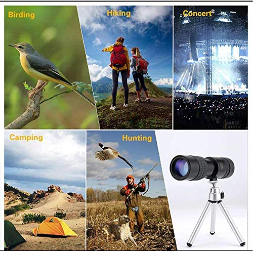 Cell Phone Camera Lens Kit,Portable HD Monocular Telescope,4k 10-300x40mm Super Telephoto Zoom Telescope with Phone Clip&Tripod,for Smartphone Bird Watching Fishing Outdoors Sporting