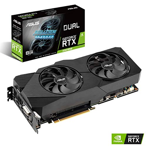 ASUS GeForce RTX 2060 Super 8G EVO GDDR6 Dual-Fan Edition VR Ready HDMI DisplayPort DVI-D Graphics Card (DUAL-RTX2060S-8G-EVO) (Renewed)