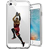 iPhone 5/5s/SE Case, Chrry Cases Ultra Slim [Crystal Clear] [Basketball Player] Soft TPU Case Cover for Apple iPhone 5/5s/SE - Kyrie