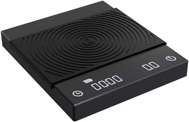 TIMEMORE B22 New Version Digital Coffee Scales Kitchen Scales with Auto Timing, 2000 Grams,Black