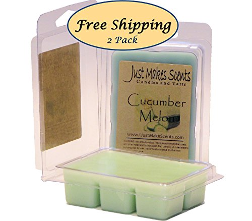 - 2 Pack - Cucumber Melon Scented Wax Melts by Just Makes Scents