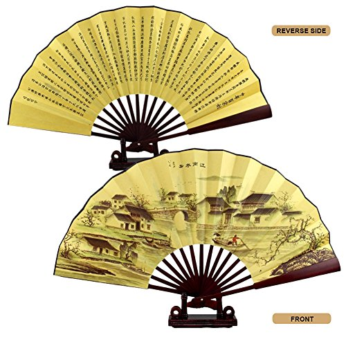 CocoStore Chinese Japanese Folding Silk Hand Flower Bamboo Asian Pocket Fan Decor(random delivery)