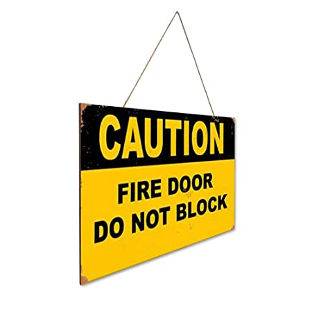 Caution Fire Door Do Not Block Security Sign Cartel de ...