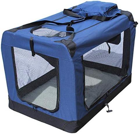 YATEK Transportin para Perros Plegable entradas Laterales y Superiores con Alta Visibilidad, Confort y Seguridad para tu Mascota, Varios tamaños