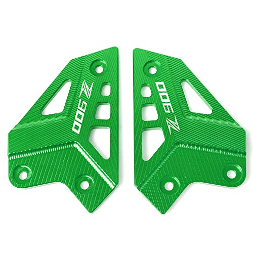 Motorcycle CNC Aluminum Foot Peg Protector Heel Protective Cover Guard for Kawasaki Z900 2017 2018 2019(Green)