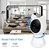 NewPal WiFi Camera 1080P Home Wireless Security Camera with Auto Tracking, Motion Detection,2 Way Audio, Night Vision. Good to use for Baby Monitor, pet Camera and Home Security