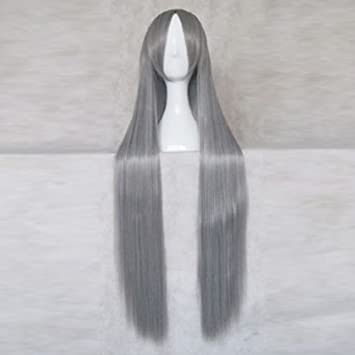Sephiroth Final Fantasy 7 silver gray long cosplay wig