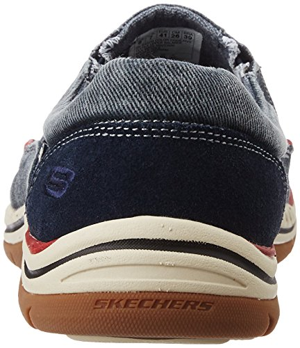 Men's Fit Skechers Expected Relaxed Slip On Navy Loafer Avillo Oxx6Rqv