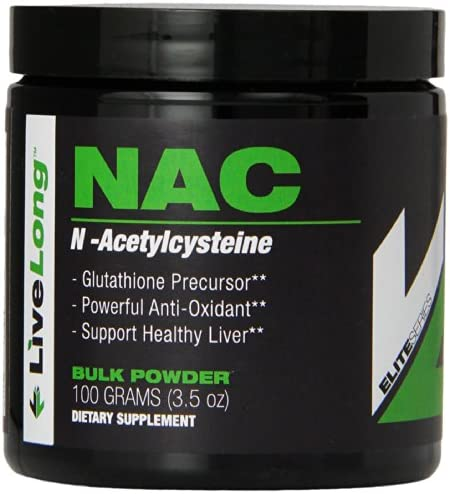 Pure N-Acetyl L-Cysteine NAC Powder – Liver Health and Cellular Support, Bulk Supplements, NAC for Bodybuilding and General Wellness and Antioxidant Supports Glutathione, 3.5 Ounce