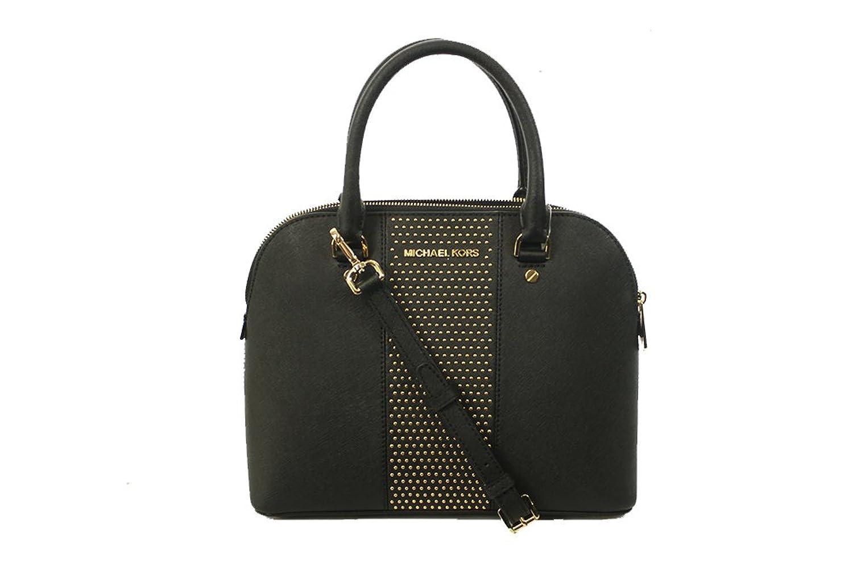 37cf3d950f56 ... coupon code for michael michael kors studded cindy medium dome satchel  black handbags amazon c69e2 62fa7 ...