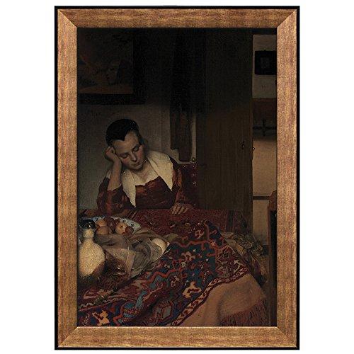 A Girl Asleep by Johannes Vermeer Framed Art
