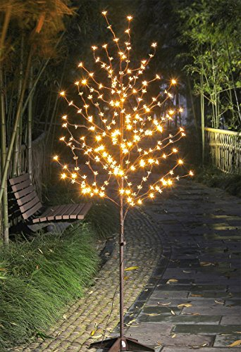 Lightshare LED Blossom Tree, 6-Feet, Warm White Christmas Decorations For Pubs