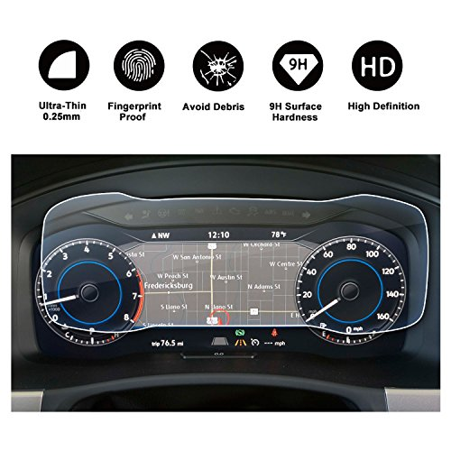 2018 Atlas Discover Media Touch Screen Car Dashboard Screen Protector, HD Clear Tempered Glass Car in-Dash Screen Protective Film (12.3In Dashboard) ()