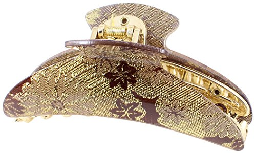 UPC 700724347312, Uxcell Tinsel Decor Hair Claw Clip Clamping, Gold Tone/Purple/Brown, 0.09 Pound