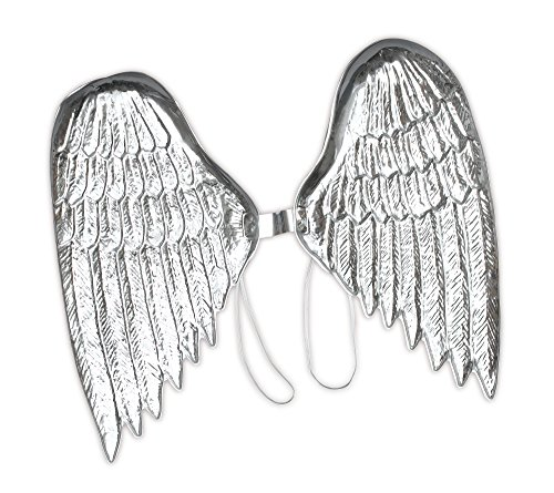 Bristol Novelty BA003 Plastic Angel Wings, Silver, One Size]()