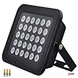 JC 260ft IR Illuminator Wide Angle 90° Infrared Light for Security Camera Black