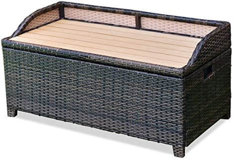 Swell Amazon Com Chooseandbuy 50 Gallon Patio Rattan Storage Pabps2019 Chair Design Images Pabps2019Com