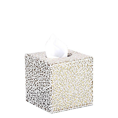 Rectangular Leather Facial Tissue Box Cover Home Office Decor , 001 by YANXH home
