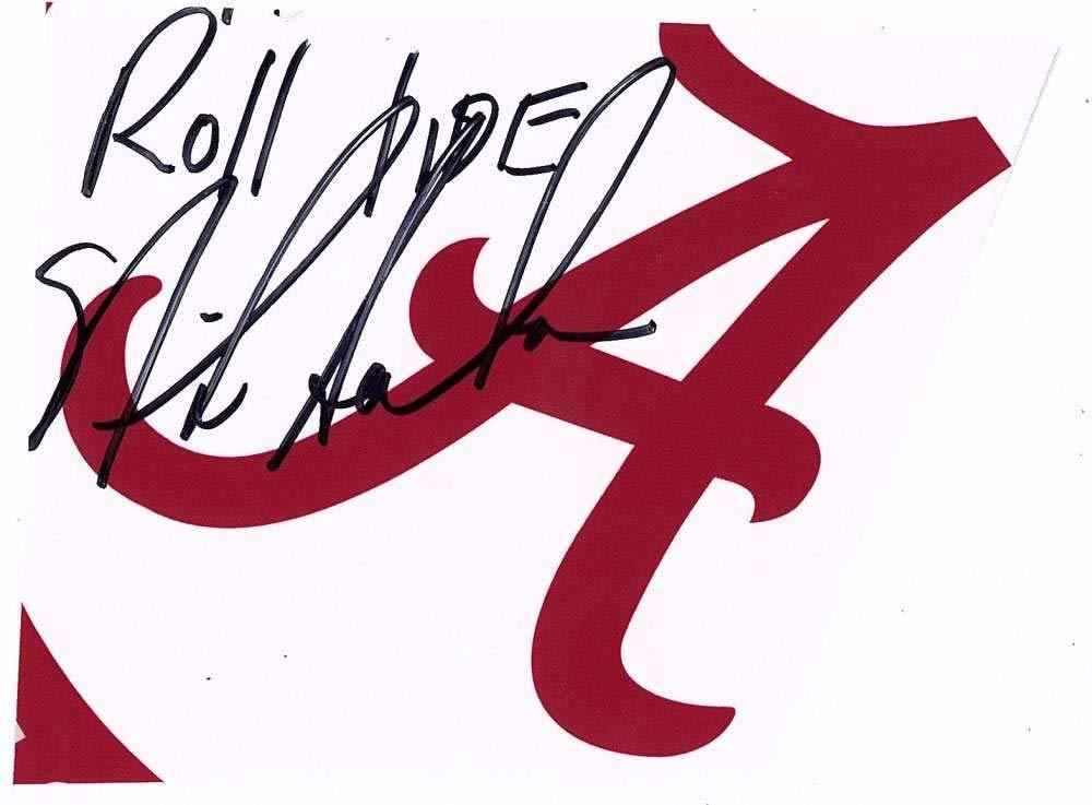 Nick Saban Signed Autographed 3.5x5 Roll Tide Cut Signature Beckett BAS