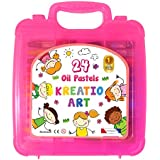Kreatio Art Jumbo Size Oil Pastel Crayons, 24 Colors, Non Toxic, for Boys and Girls