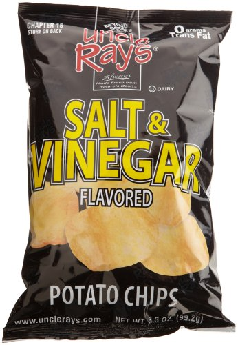 (Uncle Ray's Salt & Vinegar Potato Chips, 3-Ounce Packages (Pack of 12))