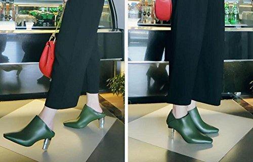 Scarpe Donna quotidiana Pantofole Stivaletti , green , 39