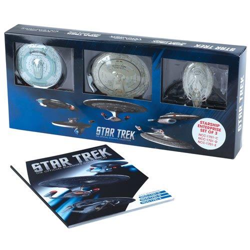 Star Trek Starships Figurine Collection Magazine Set #01 - Enterprise C D E (Figurine Magazine)