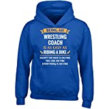 Being A Wrestling Coach Is Easy - Girl Girls Hoodie Kids S Royal