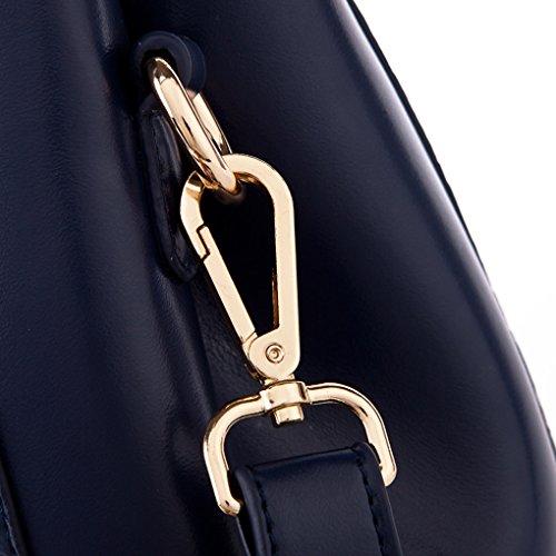 Bandoulière Croco Sac KAXIDY Noir épaule Cuir en porté Bleu foncé Main à Sac Sac awZ0Bq