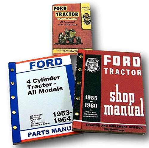 Lot Ford 600 800 Series Tractor Owner Operator Parts Service Repair Shop ()