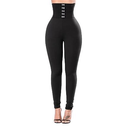Amazon.com: High-Waist Tummy Control w Side/Yoga Scrub Pants ...
