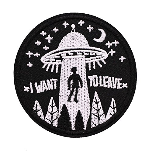 Cheap U-Sky Sew or Iron on Patches - I Want to Leave - Pack of 2 Different Design