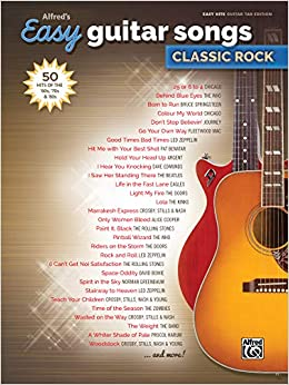 Alfred S Easy Guitar Songs Classic Rock 50 Hits Of The 60s 70s 80s Alfred S Easy Hits Guitar Tab Edition Amazon Co Uk Alfred Music Books