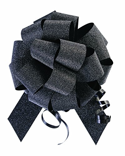 SKD Party by Forum 10 Pack 5'' No Mess Diamond Glitter Pull Bows Pew Wedding Wrap by SKD Party by Forum