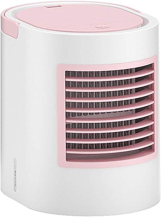 WENYAO Pequeño Portátil Aire Acondicionado, Low Noise Ventilador De Escritorio Personal Ventiladores de Torre Humidificador Purificador de Aire, para el hogar y la Oficina - 380ML,C: Amazon.es: Hogar