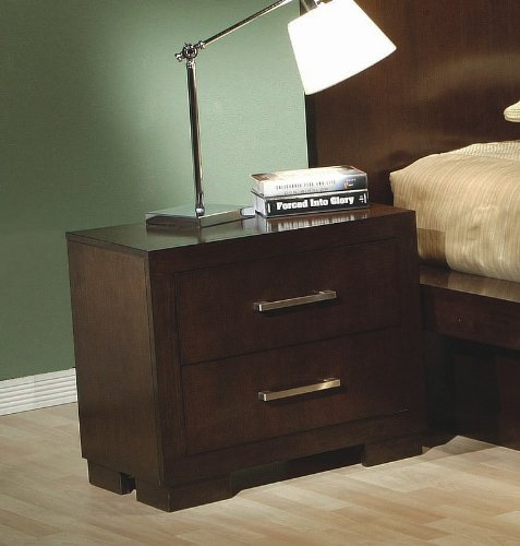Jessica Nightstand in Light Cappuccino (Bedroom Collection Jessica Coaster)