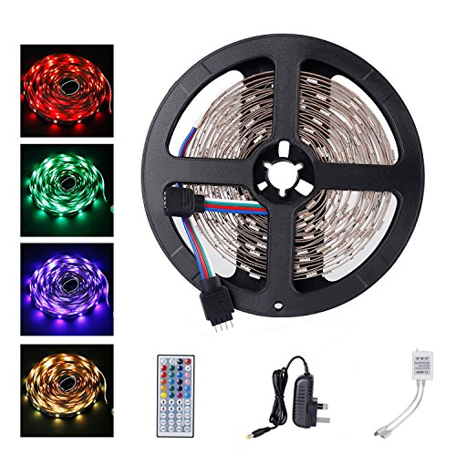 ALED LIGHT 5050 LED Strip Set 16.4 ft 5M 150 SMD RGB Non-waterproof Colour...