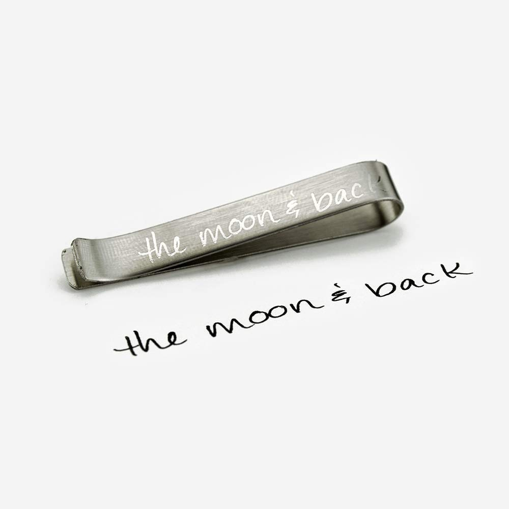 03da78a677de Amazon.com: Actual handwriting Tie Bar, Hidden message tie bar, Custom Tie  Clip, Personalized Tie Bar, Tie Tack Accessories, Groomsmen gift for men:  ...