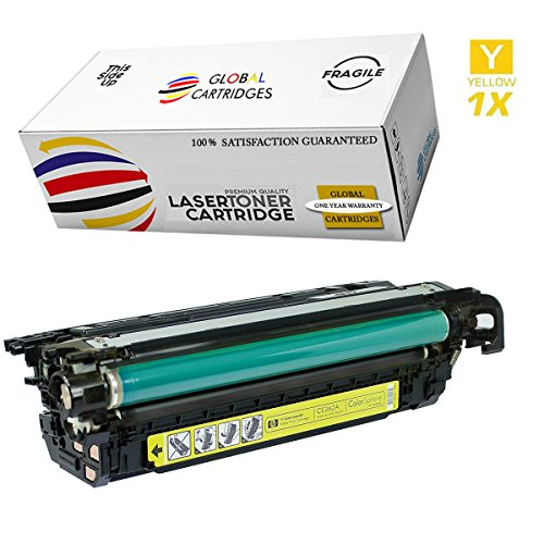 GLB Premium Quality Remanufactured Replacement for HP 648A Yellow CE262A Toner Cartridge For HP Color LaserJet CP4520, CP4025, CP4025N, CP4025DN, CP4525N, CP4525DN, - 648a Cartridge Yellow