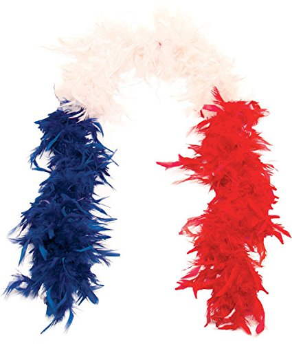 Feather Boa France blue / white / red Folat