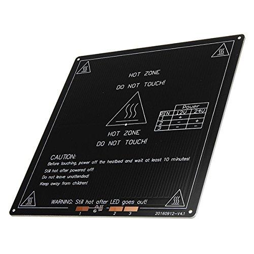 FLSUN ® 12V 100W 220 * 220 * 3mm de Aluminio térmico calentado ...