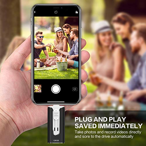 USB Flash Drive for iPhone Phone 128 GB RMF Memory Stick USB 3.0 for iPhone iPad Android and Computer Flash Drive Lightning Storage (Black 128 GB) by RUIMF (Image #6)
